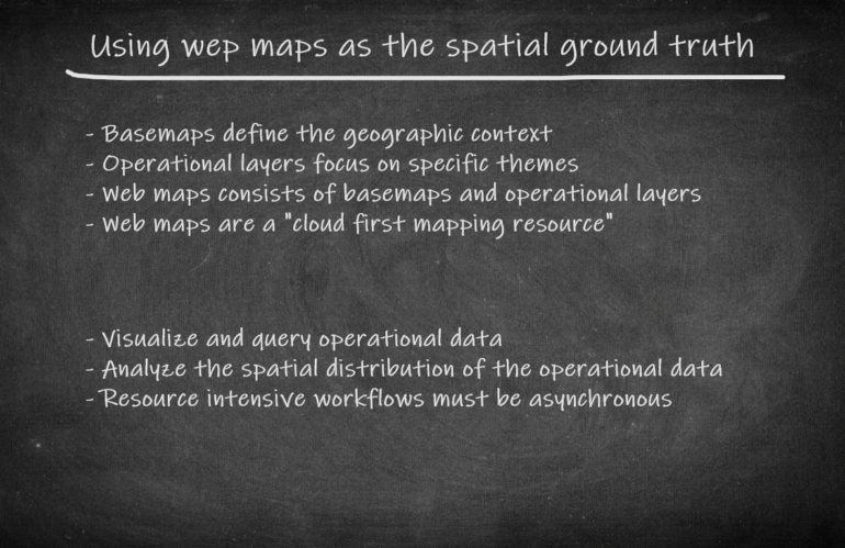 GEOINT App: Using web maps as the spatial ground truth